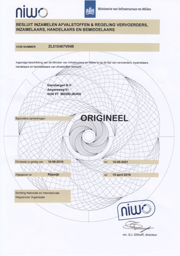 VHIB-certificaat